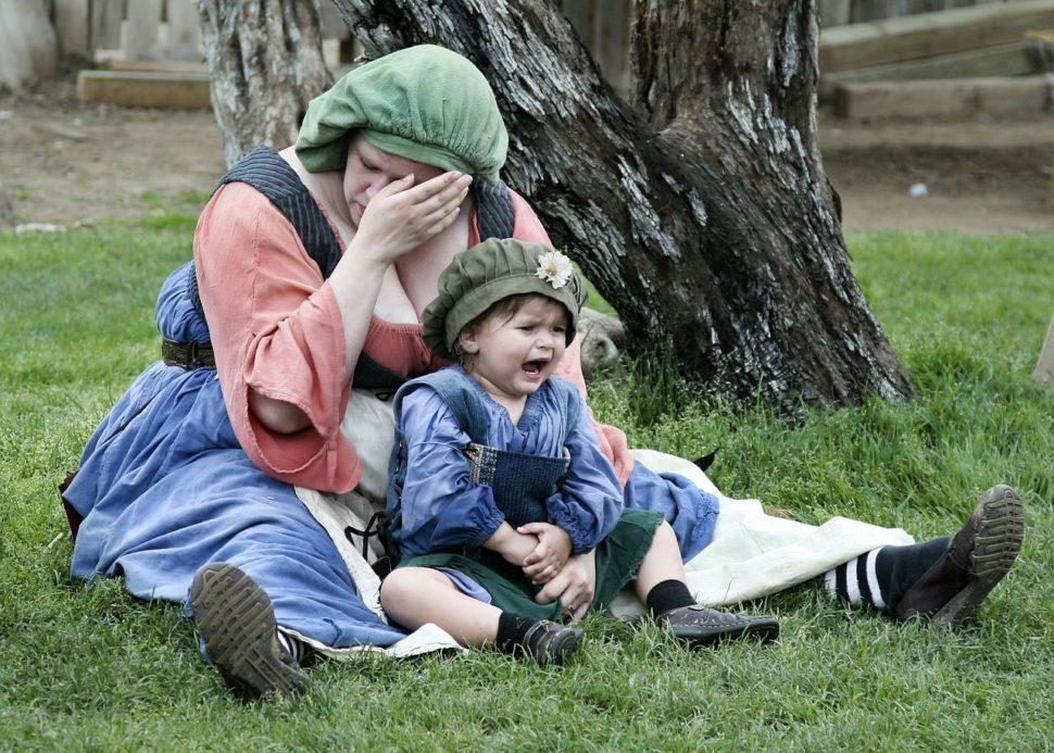 Matka a dítě ve stresu nejen z jídla.